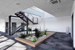 hall entre centre affaires entreprise